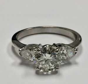 1.55 ct diamond Trinity Engagement Ring