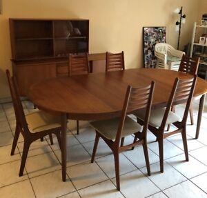 N&R Mobler Dining Room Set