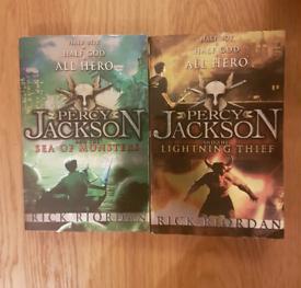 Percy Jackson books x2