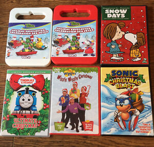 KIDS DVDS ~  6 great Kids Christmas DVDS - all are mint used