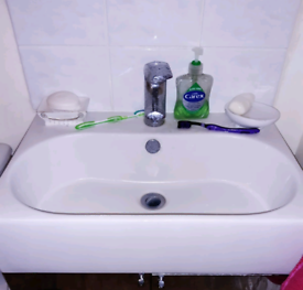 Sink basin with tap bathroom