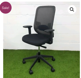 MESH OFFICE CHAIR WITH LUMBAR SUPPORT