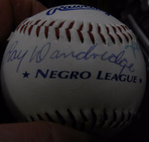 Vintage Negro League Baseball Signed by 6 Legendary Players