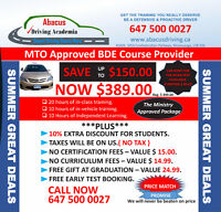 Driving School & Instructor Mississauga & Oakville Great Deals