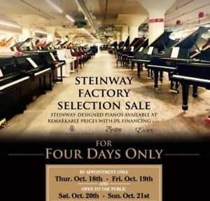Special Steinway Factory Selection Sale!