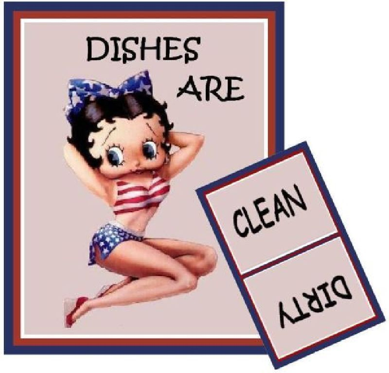BETTY BOOP #2  Dishwasher MAGNET (Clean/Dirty)