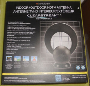 ANTENNAS DIRECT CLEARSTREAM INDOOR/OUTDOOR DIGITAL TV ANTENNA