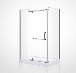 "★ VENTE D'ENTREPOT ! ★ DOUCHE RECTANGLE 60 x 32 "" - VERRE 8MM★★"