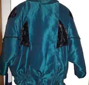 LADIES  Teal n Black Winter Coat