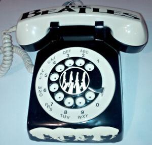 VINTAGE CUSTOM 1 OF A KIND THE BEATLES ROTARY PHONE