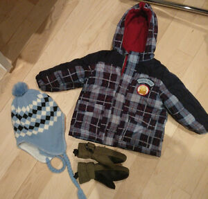 Winie The Pooh winter coat, hat, mittens, size 18 - 24m