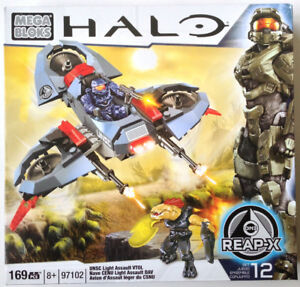Halo Mega Bloks UNSC Light Assault - 97102 (USAGÉ)