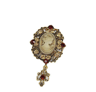 Lange Vintage-Brosche Antike Hübsche Schönheit Cameo Broschen