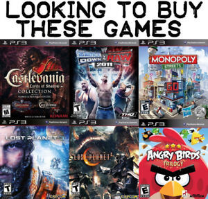 Buying These Games For PS3