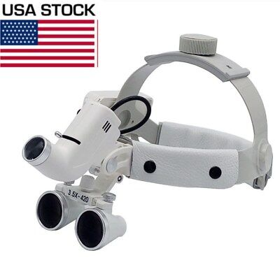 3.5x Dental Surgical Medical Headband Loupes With 5w Led Light Dy-106 Us Stock