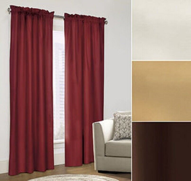Thermal Curtains foam backing block winter drafts and summer's blistering sun. Curtains & Drapes