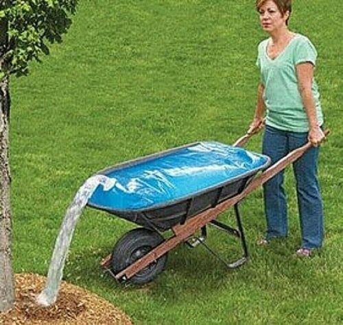 Wheelbarrow Water Bag 20 GALLONS Anti-Slip Mat for Wheel Barrow Folds Flat NEW