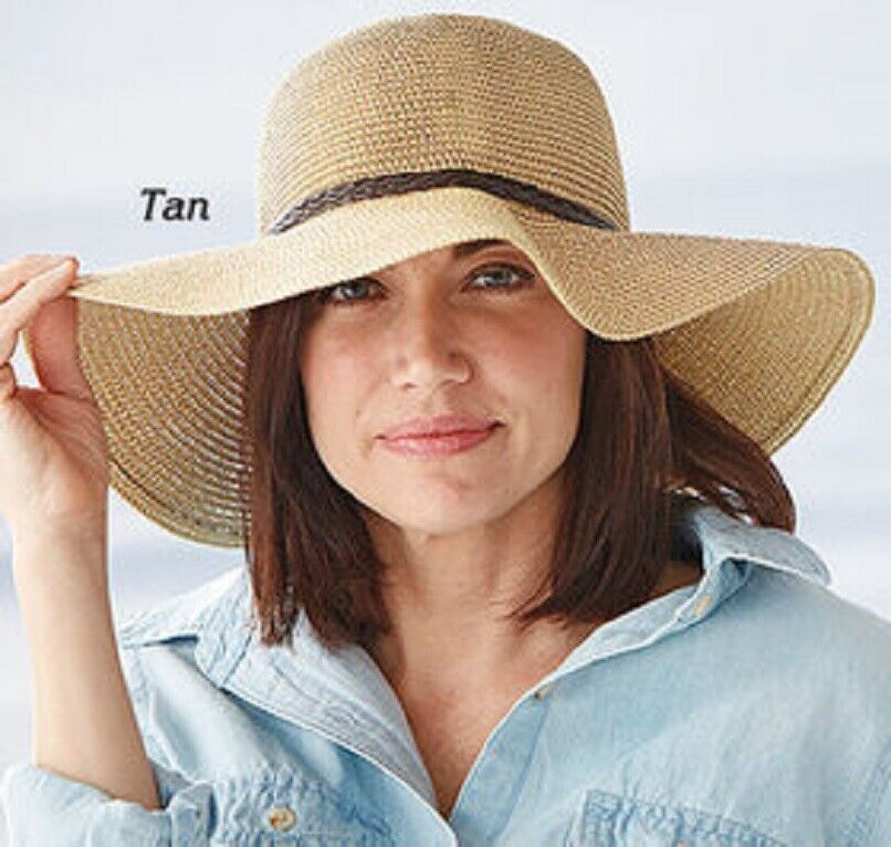 Sun Hat Sun Protection Choose from Tan or Black Free Fast Ship Sunlily Roll-n-Go Clothing, Shoes & Accessories