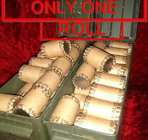 ONE UNOPENED ESTATE SALE ROLL of HALVES MIGHT HAVE 90% SILVER COINS INSIDE