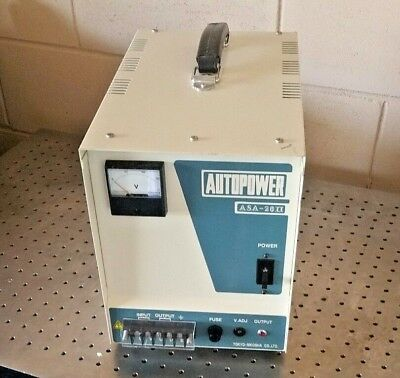 Toyoko Rikosha Autopower Automatic Voltage Regulator Asa-20ii