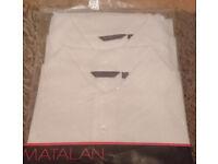 MATALAN T-SHIRT POLO NECK 2 PACK MEN MEDIUM