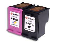 Novajet Remanufactured HP 302xl 302 XL Ink Cartridges (1 Black,1 Tri-colour)