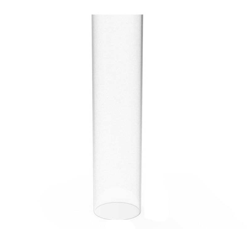 "Clear Acrylic Tube 3"" Dia 12"" Long Plexiglass Pipe Transparent Rigid Conduit"