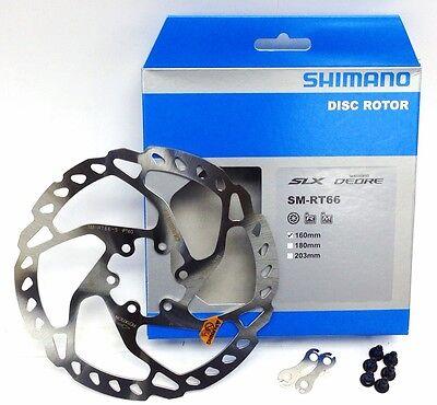 Shimano SM-RT66 160mm MTB Disc Brake Rotor for SLX/Deore/XT 6-bolt  + Hardware