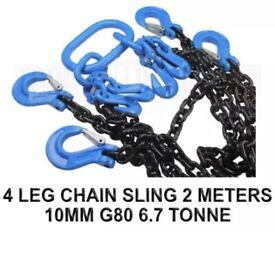 4 LEG CHAIN SLING - 2 MTR 6.7 TON
