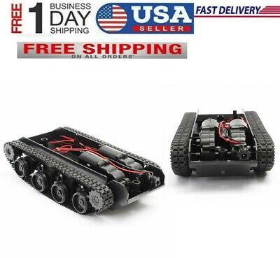 Arduino 130 Motor Tank Robot Chassis Kit Rubber Track Crawler