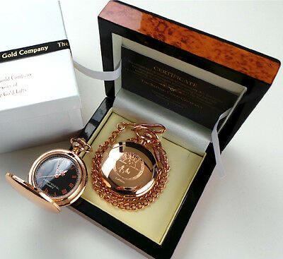 JOHNNY CASH Rose Gold clad Signed Autographed POCKET WATCH LUXURY Lux Case