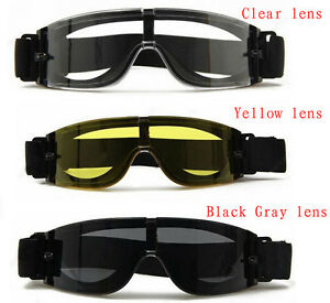 USMC Military Airsoft X800 Tactical Goggle Shooting GX1000 Glasses Armed 3 Lens