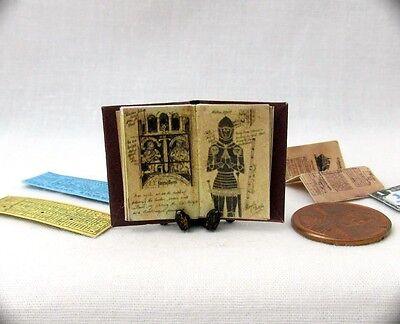 (JONES DIARY Miniature Book Dollhouse 1:12 Scale Illustrated INDIANA JONES)