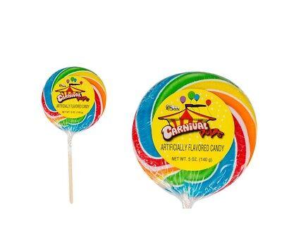 2 Count Giant Bee Carnival Pop spiral stripped lollipop sucker 5 oz. candy](Giant Lollipop)