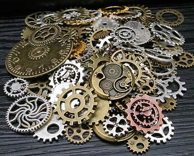 100G Gears Wheels Steampunk Old Watch Parts Steam Punk Lots Of Pieces New