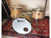 REDUCED PRICE Vintage 1970's Premier 4 Piece Drum Kit