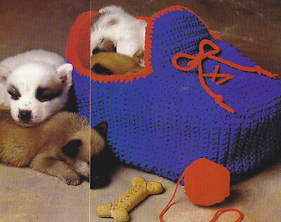 Crochet Pattern ~ SLEEPY SLIPPER DOG OR CAT BED ~ Instructions
