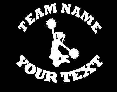 Cheerleading Bumper Stickers (Personalized CHEERLEADING Decal - (A) Custom Vinyl Bumper Sticker Car Window )