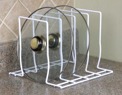 Home Basics NEW Pot Lid White Organizer Rack - PR30370