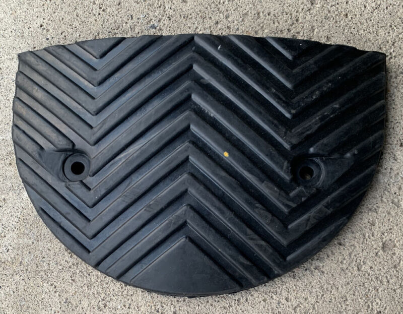 "RUBBER BLACK SPEED HUMP END CAP 9-1/2"" X 14-1/2"""
