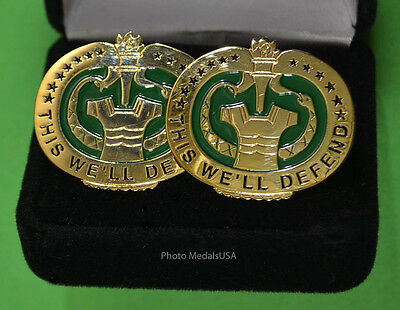"""Army Drill Instructor Cuff Links - """"This We'll Defend""""  -  Drill  Sergeant - DI"""