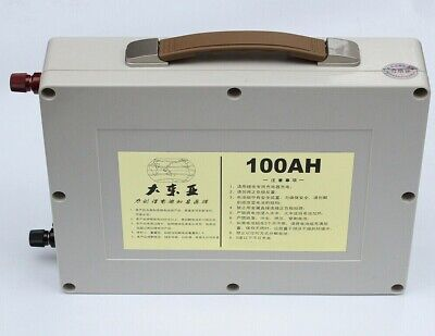 Used, Lithium 12v 100Ah Rechargeable Deep Cycle Battery with Home Charger BMS Solar RV for sale  Shipping to South Africa