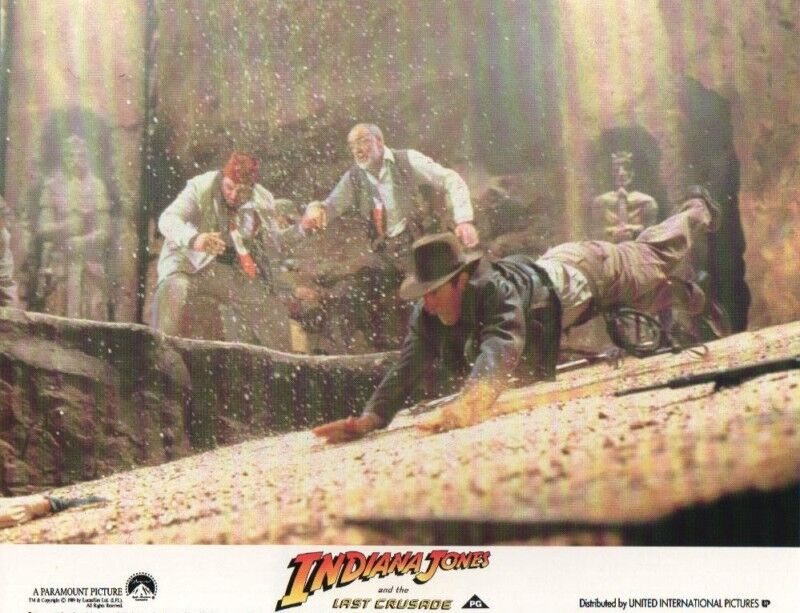 Indiana Jones and the Last Crusade lobby card print - Hsrrison Ford