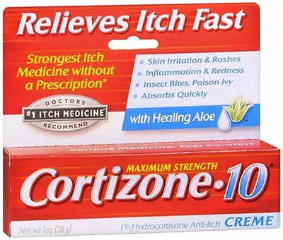 Cortizone-10 Maximum Strength Anti-Itch Creme with Aloe 1 oz