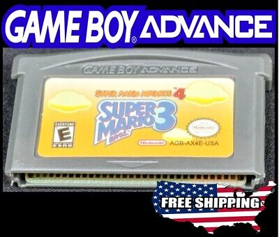 Super Mario Advance 4 - Super Mario Bros 3 - Gameboy Advance GBA DS Lite +More