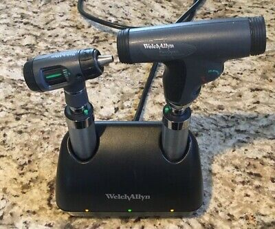 Welch Allyn Desk 7114x Desk Charger Panoptic Ophthalmoscope Macroview Otoscope