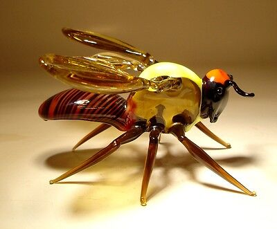 """Blown Glass """"Murano"""" Art Animal Figurine Insect GIANT Wasp"""