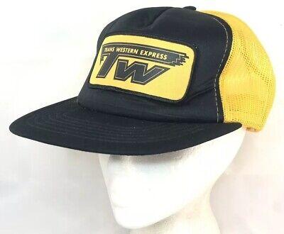 Vtg Trans Western Express Mesh Trucker Hat Snapback Patch Cap Semi Driver Logo ()
