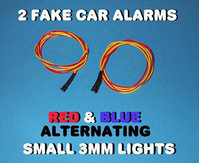 Fake Car Alarm Led Light- 3mm Red Blue Alternating 12v 24v Blink Blinking