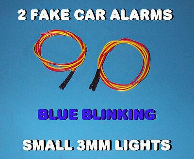 Fake Car Alarm Led Light- 3mm Blue Flashing 12v 24v Blink Blinking Flash
